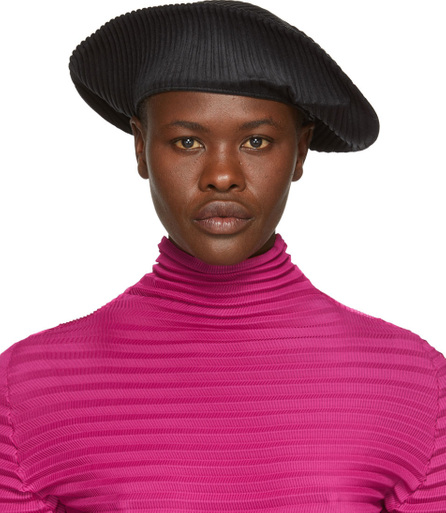 Pleats Please By Issey Miyake Black Pleats Beret
