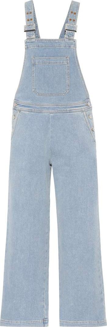 Alexachung Wide-leg denim overalls