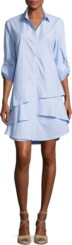 Finley Jenna Ruffle-Tiered Shirtdress