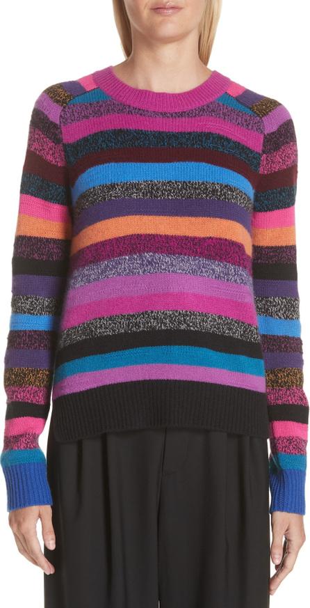 MARC JACOBS Tie Back Stripe Cashmere Sweater