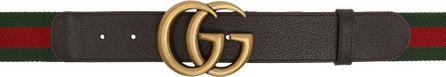 Gucci Green & Red Web GG Belt