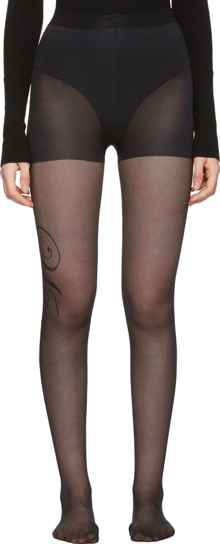 Alexander Wang Black Sheer 'Wangover' Tights