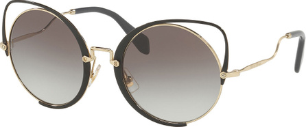 Miu Miu Cutout Cat-Eye Gradient Sunglasses, Noir