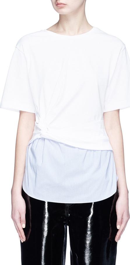 3.1 Phillip Lim Stripe poplin hem twist T-shirt