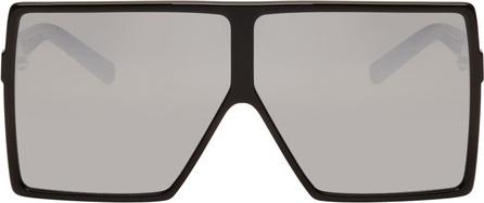 Saint Laurent Black SL 182 Betty Shield Sunglasses
