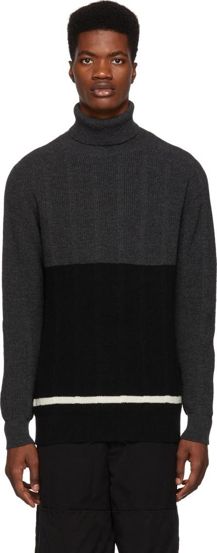 Comme des Garçons Homme Black & Grey Wool Turtleneck