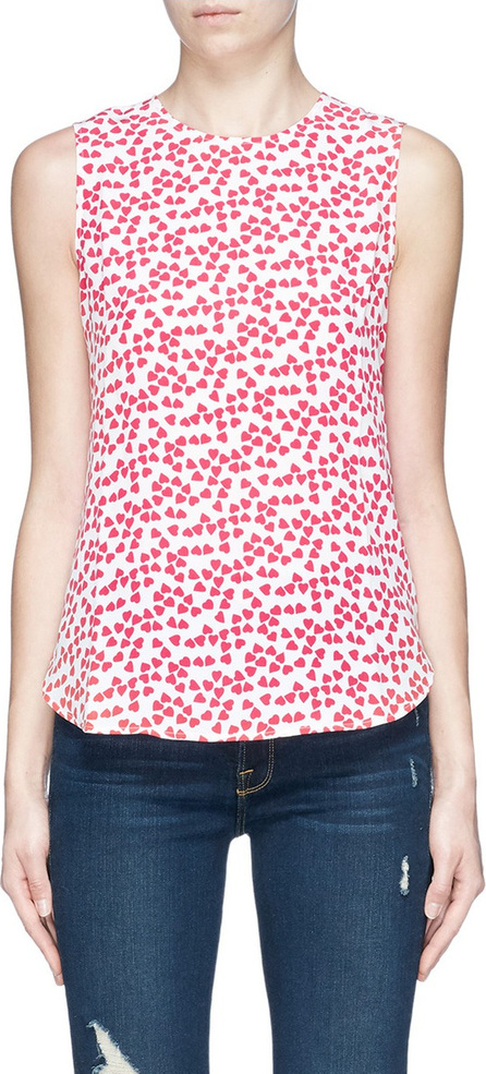Equipment 'Lyle' heart print silk crepe sleeveless top