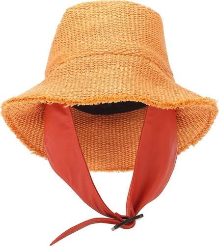BOYY Exclusive to Mytheresa – Buckle raffia hat