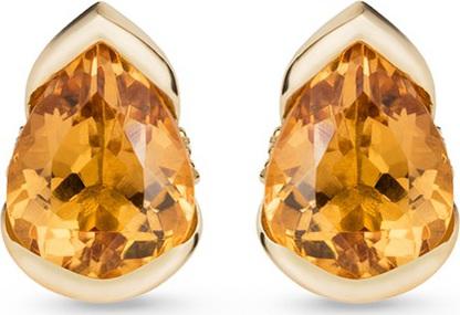 Fernando Jorge 'Bloom' diamond topaz 18k gold large stud earrings