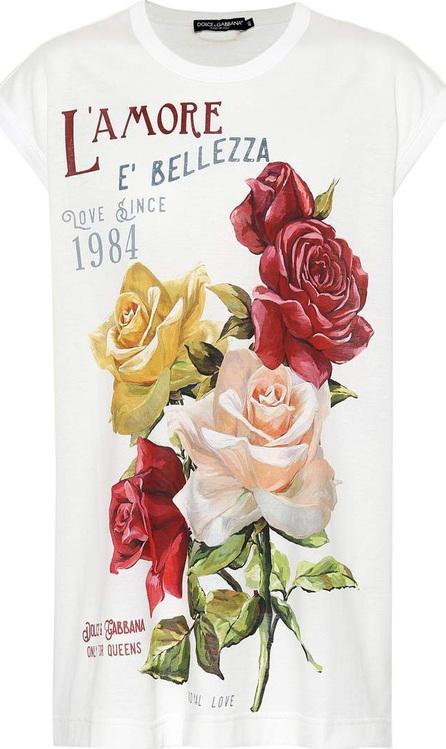 Dolce & Gabbana Floral printed cotton T-shirt