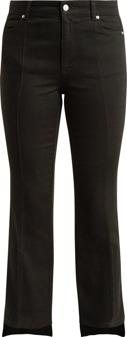 Alexander McQueen Cropped kick-flare step-hem jeans