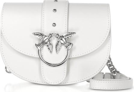 Pinko White Go Round Baby Simply Shoulder/Belt Bag