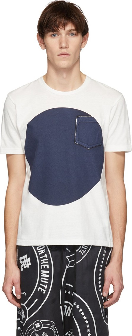 Blue Blue Japan SSENSE Exclusive White & Indigo Big Circle T-Shirt
