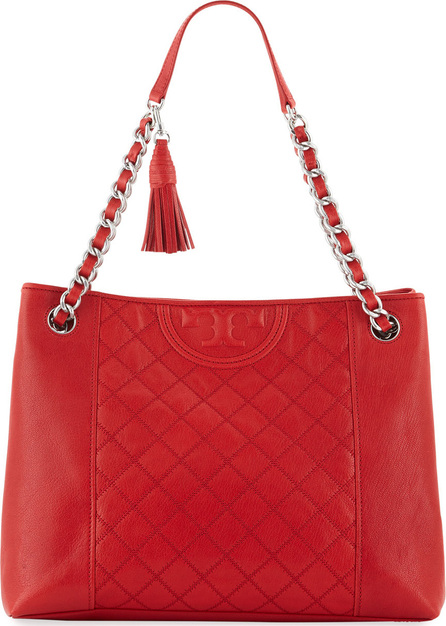 Tory Burch Fleming Distressed Leather Tote Bag