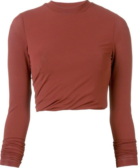 T By Alexander Wang twisted cropped top