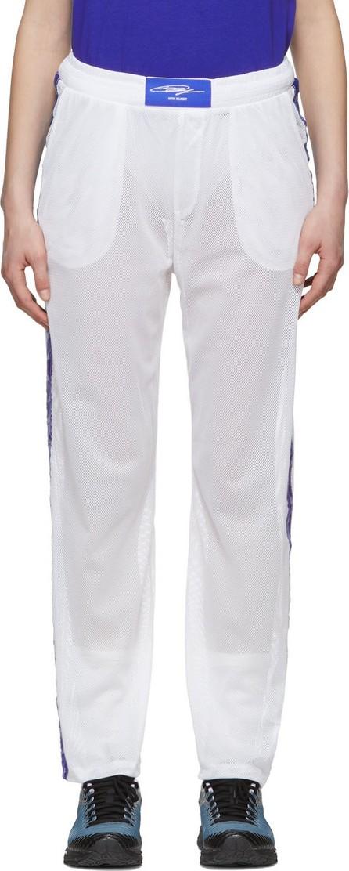 Anton Belinskiy White Mesh Logo Lounge Pants