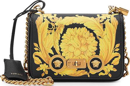 Versace Printed Leather Shoulder Bag