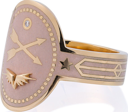 Foundrae Crossed Arrows Diamond Cigar Band Ring