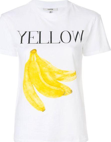 Ganni Yellow Bananas T-shirt