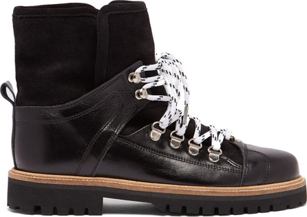 Ganni Edna shearling-lined leather boots