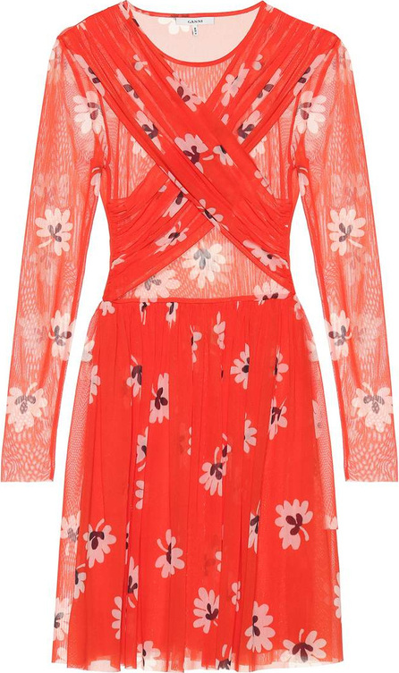 Ganni Floral-printed minidress