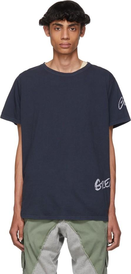 Greg Lauren Navy Deconstructed Logo T-Shirt