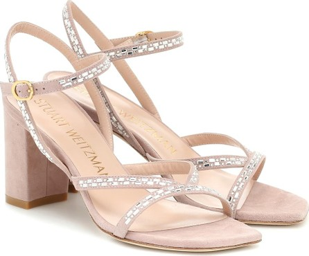 Stuart Weitzman Harlowe embellished leather sandals