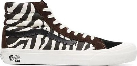 6390221893 Vans brown and white vault x taka hayashi zebra print sneakers