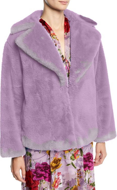 Alice + Olivia Thora Faux-Fur Oversized Coat