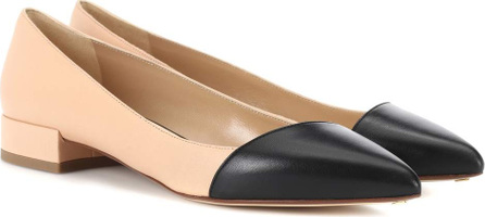 Francesco Russo Leather ballerinas