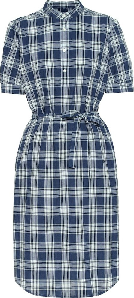 A.P.C. Clea checked cotton midi dress