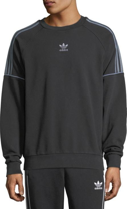 Adidas Piped-Trim Crewneck Sweatshirt