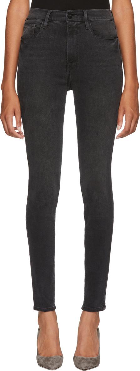 FRAME DENIM Black High Skinny Jeans