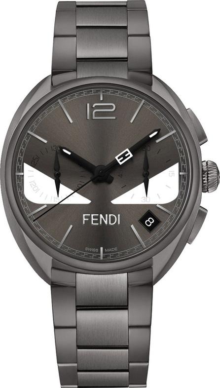 Fendi 40mm Momento Bugs Bracelet Watch, Gray