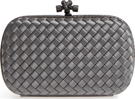 Bottega Veneta New Satin & Genuine Snakeskin Knot Clutch