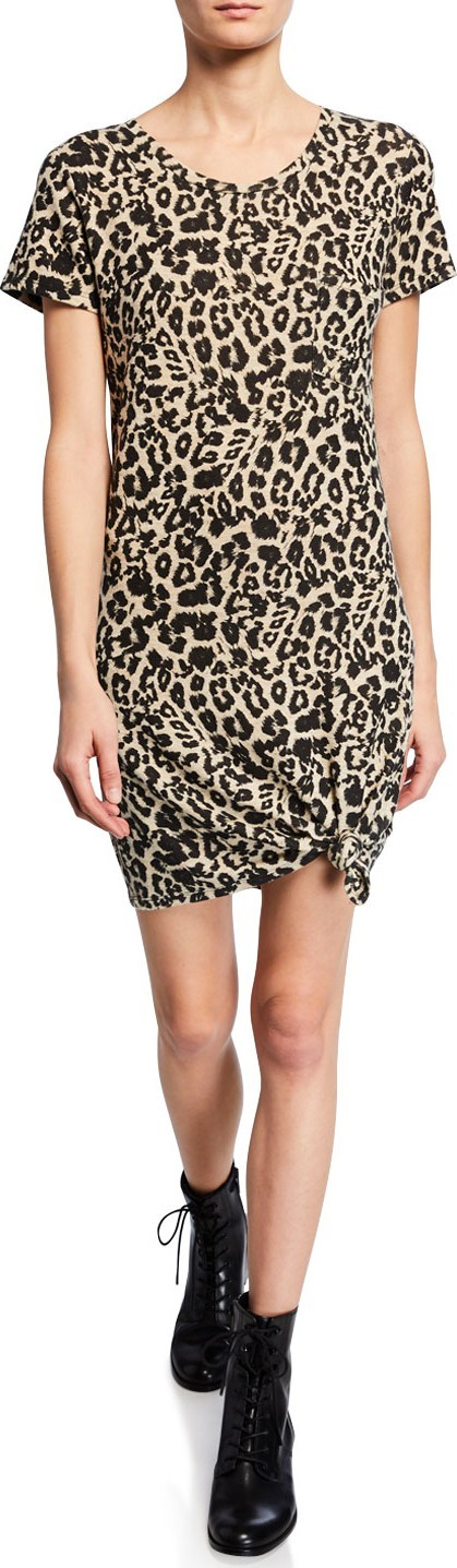 Generation Love Holly Leopard-Print Short-Sleeve Dress