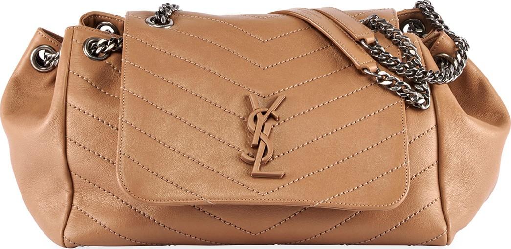 a45bc56e4932 Saint Laurent Nolita Large Monogram YSL Double Chain Shoulder Bag - Mkt