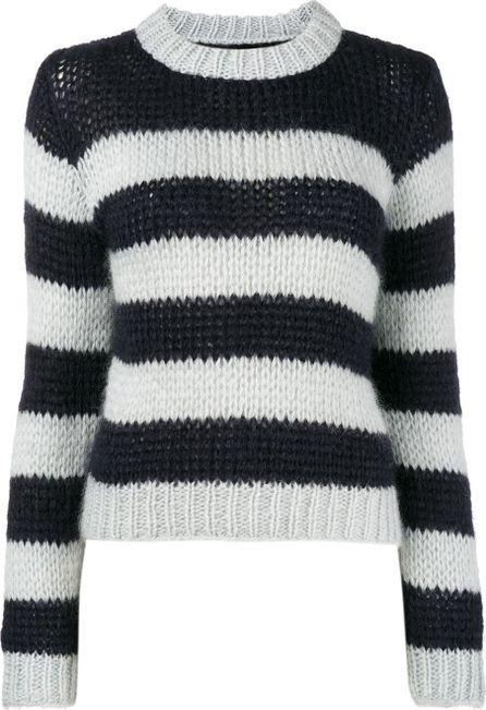 Ganni Faucher stripe knitted jumper