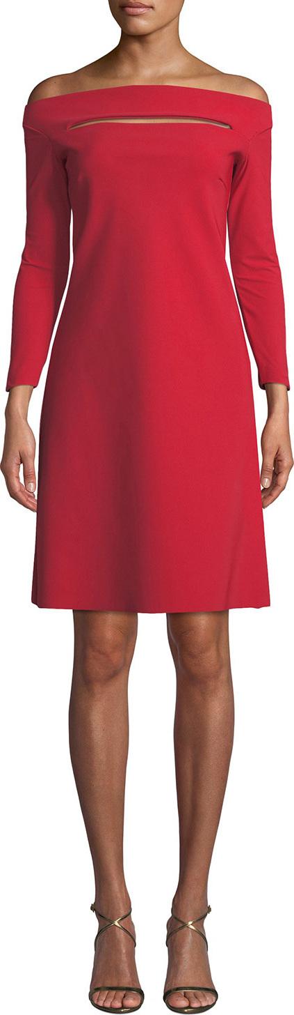 La Petite Robe di Chiara Boni Palomina Slit Off-the-Shoulder Dress