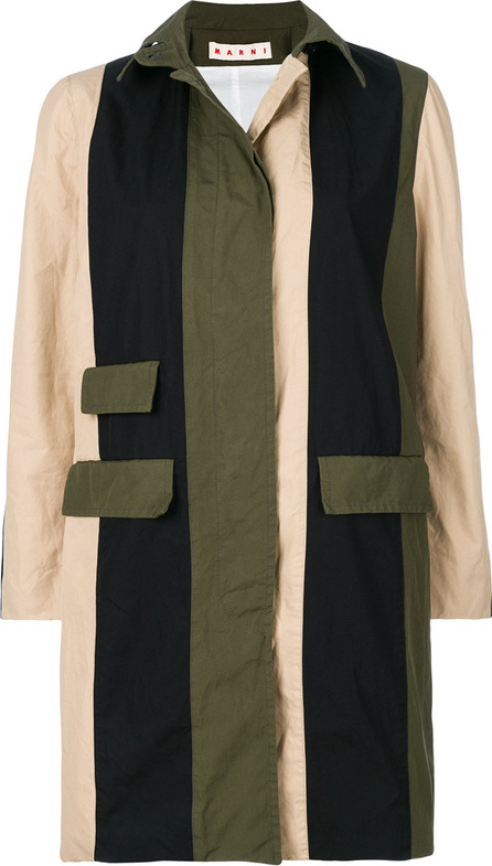 Marni Military colour blocked trench