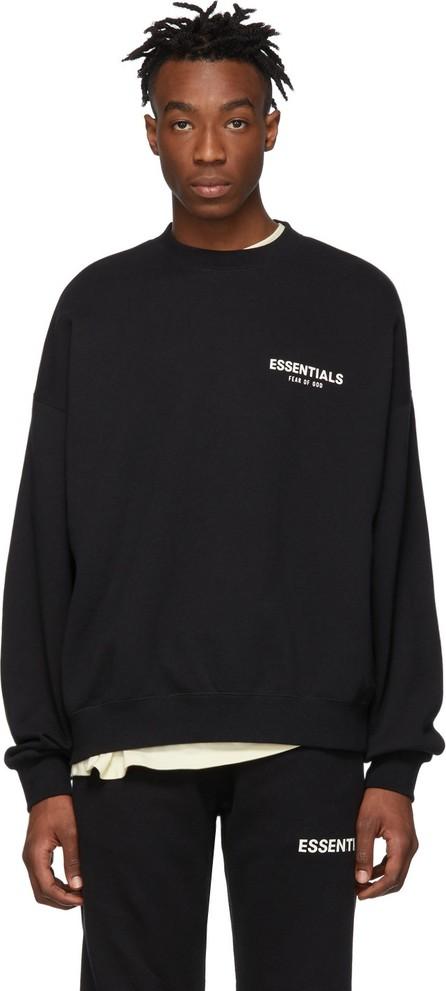 Essentials Black Pullover Crewneck Sweatshirt