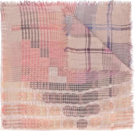 Faliero Sarti check and circle pattern scarf