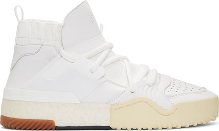 Adidas Originals by Alexander Wang White BBall High-Top Sneakers
