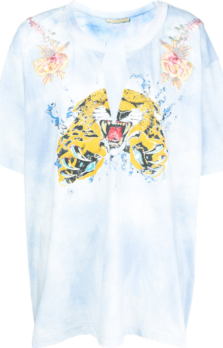 Amen Tie-dye embroidered T-shirt