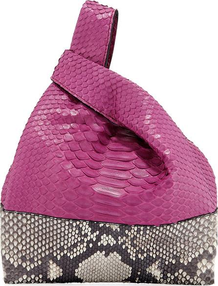 Hayward Two-Tone Mini Python Shopper Tote Bag, Fuchsia