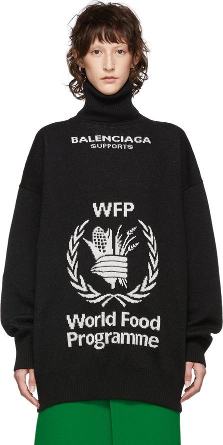 Balenciaga Black & White World Food Programme Turtleneck