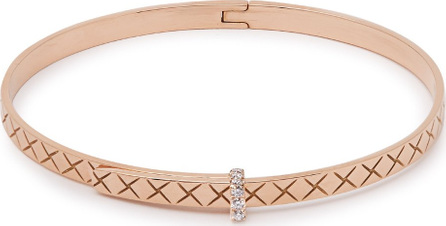Bottega Veneta Intrecciato 18kt rose-gold & diamond bracelet