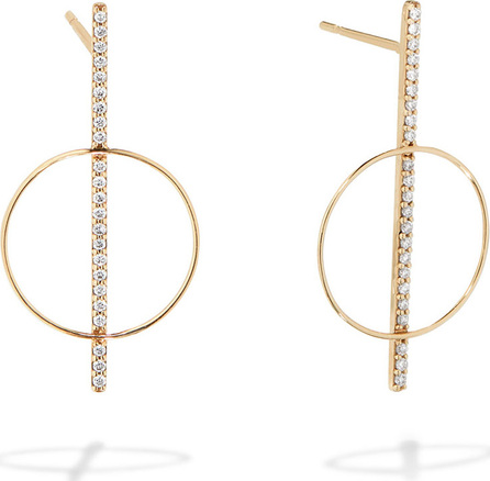 Lana 14k Gold Diamond Bar Hoop Earrings