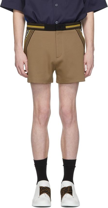 Fendi Beige Jersey Shorts