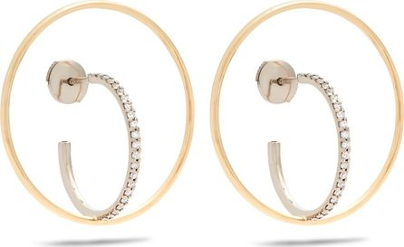 Charlotte Chesnais Saturn medium diamond & gold earrings
